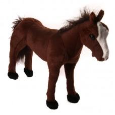 Carlin - sötétbarna plüss ló