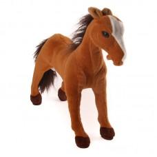 Carlin - világosbarna plüss ló