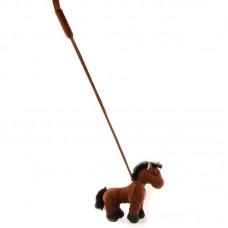 Pálcás lovas játék - sötétbarna