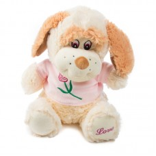 Kia - plüss kutya rózsaszín pólóban