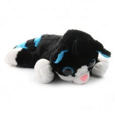 Betti - fekete plüss cica