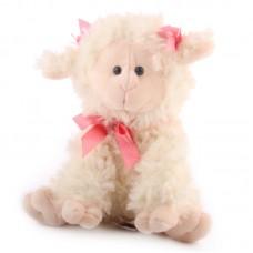Plüss bárány rózsaszín masnival