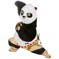Po - közepes kung fu panda plüss harcos pózban
