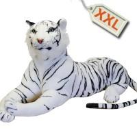 Óriás plüss tigris - fehér