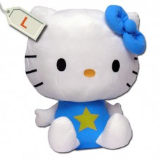 Hello Kitty nagy méretű plüss - kék