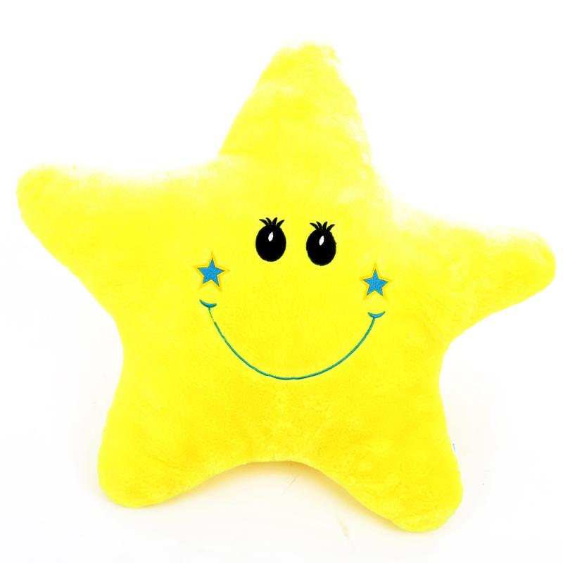 Csillag alakú párna - citromsárga a79e73cd25